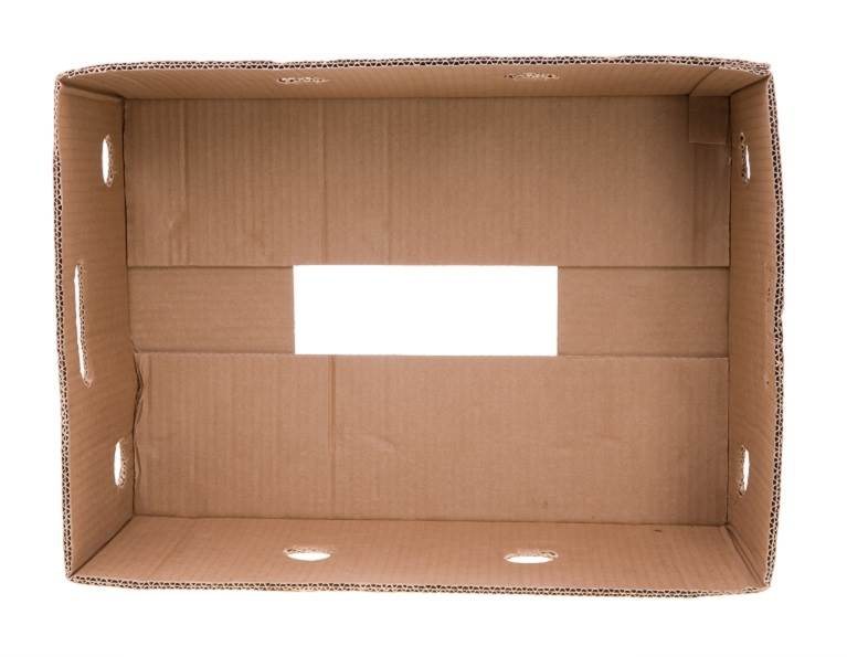 Corrugated carton box produced with adhesives from H.B. Fuller.